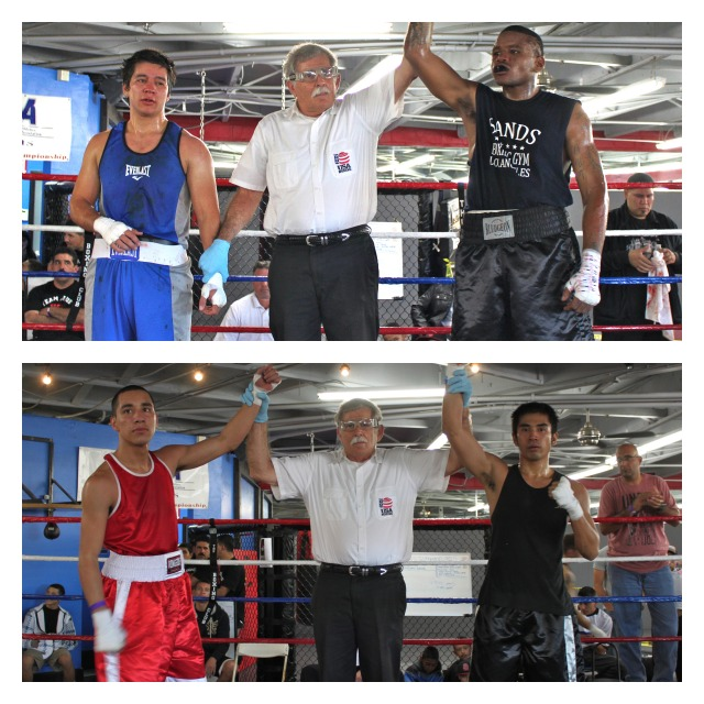 In the above photos we have David Paul (right) the winner in Bout #7 over Max Duran, and Wilson Guzman ov Dextor EscobarCollage