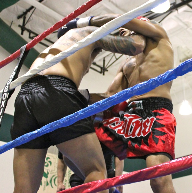 640 Bradly Guachino uses his knee on the defenseless Andrew Gabriel in Bout #7