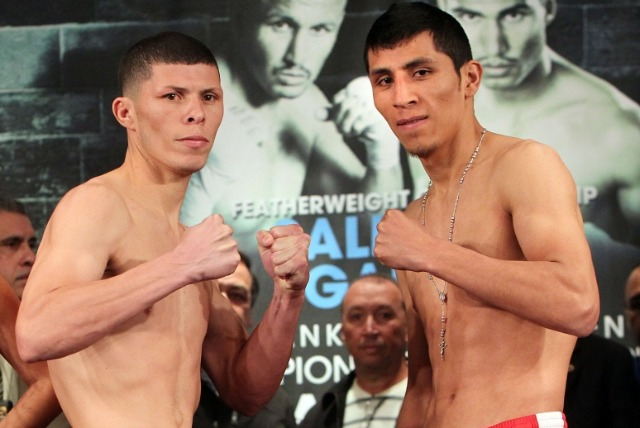 "The second CO-feature had more local interest as 29 year-old junior lightweight titlist Roman ""Rocky"" Martinez (26-1-1, 16 KOs) of Puerto Rico fought 24 year-old Juan Carlos Burgos (30-1, 20 KOs), of nearby Tijuana, B. C."