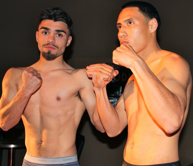 "(l to r) Jesus Sandoval (pro debut) versus Jonathon ""Johnny Boy"" Quiroz (2-1-0)"