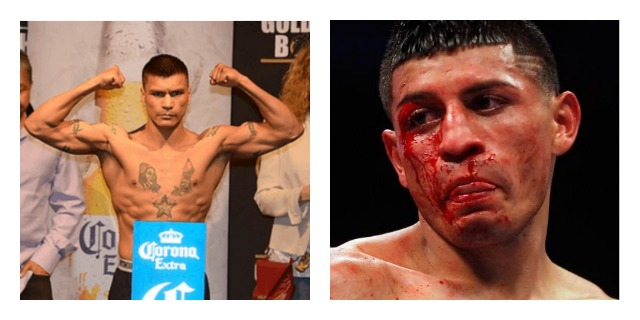 The above photos are in a way a prediction of what will happen in this fight between Daniel Ponce De Leon (l) and his opponent Abner Mares (r).