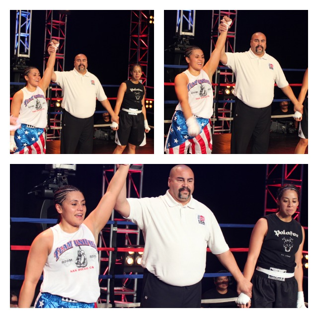 Jessica Ramirez (L) gets the victory over Tish Smith.