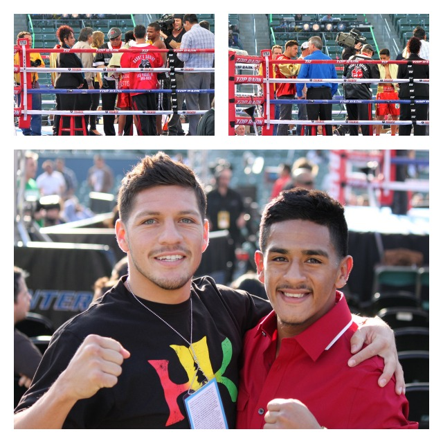 Later, after his destruction of Carlos Fulgencio in Bout #2, Jesie Magdaleno returned to Ringside to join his brother for several meet and greets and have his photo taken with his more famous brother Diego Magdaleno. togetherCollage