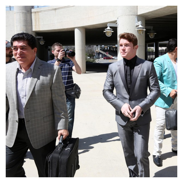 "While in Texas to promote his April 20th fight, Saul ""Canelo"" Alvarez dressed very dapper."