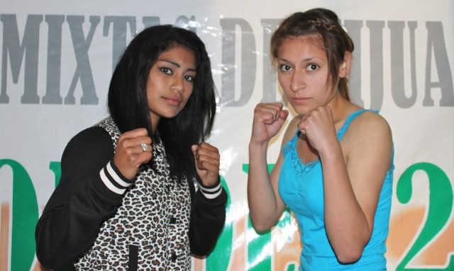 """Sandra Robles (left) will be facing Diana Marquez (R). It will be the """"Black Pearl"""" versus the """"Huntress""""."""