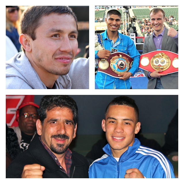 Regular who's who of boxing on handCollage
