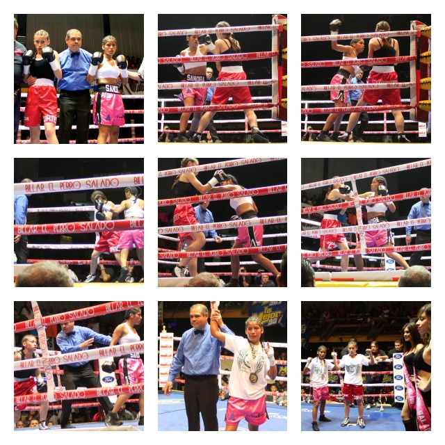 From the opening bell Sandra Robles was in complete command over Diana Marquez who was making her pro-debut.