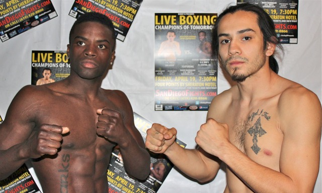 "Headliners, Emmanuel ""Renegade"" Robles (r) and Joshua ""Superman"" Marks will be fighting an old fashioned grudge match on Friday evening 7:30 p.m. at the Four Points By Sheraton Hotel in San Diego on the latest Bobby D Present ""Champions of Tomorrow"" fight card. Photos: Jim Wyatt"