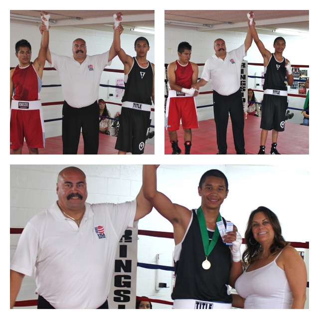 "After defeating Jesus Valderaz, Luis ""Angel"" Enriquez was presented two tickets to the next Bobby D Presents Pro Boxing Show at the Four Points By Sheraton Hotle on April 19, 2013."