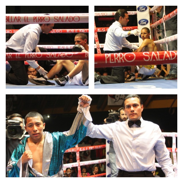 In Bout #10 it was Alejandro Santiago getting the TKO victory over Pablo Lopez.