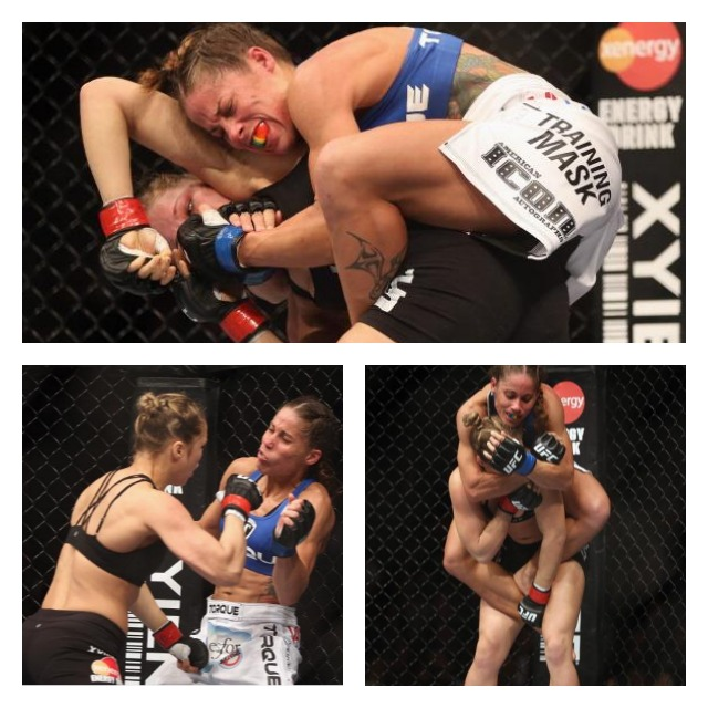 Liz Carmouche vs Rhonda RouseyCollage