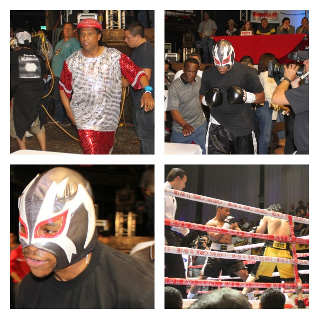 "Bout #3 featured ""Repo Man"" making his entrance in support of Brandon ""Cannon"" Adams who on his way to the ring wore a wrestler's mask."