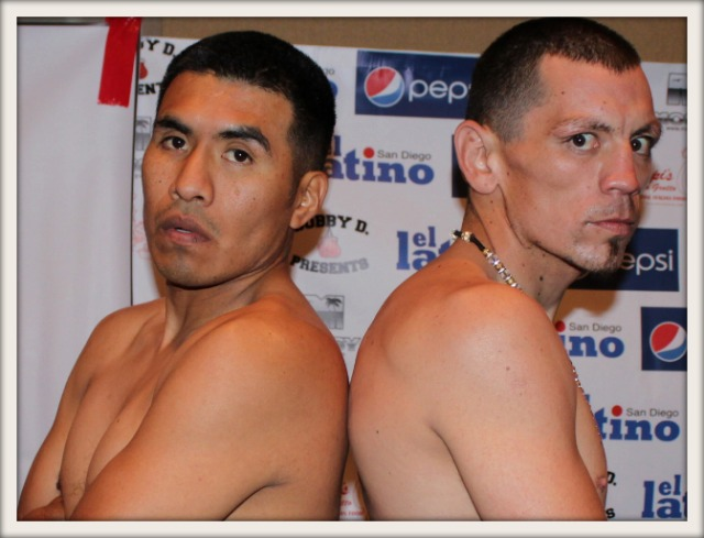 Will the rust show as Aaron Garcia (l) returns to work after a 19 month layoff to face Cesar Garcia. All photos: Jim Wyatt