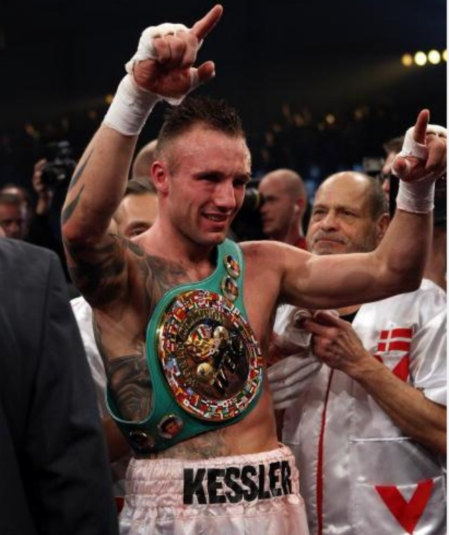 If you can't recall, Mikkel Kessler had his arm raised the last time. Mikkel Kessler celebrates being declared winner in his fight against Carl Froch after their Super Six WBC Super Middleweight title fight on April 24, 2010 at MCH Messecenter Arena in Herning, Denmark. Photo: John Gichigi/Getty Images