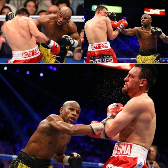 Mayweather beat down #3 Collage