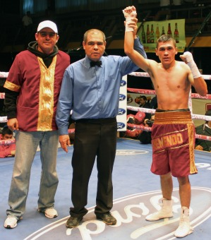 "Heriberto ""Tremendo"" Delgado (5-0-0, 2 KOs) scheduled to face Bernardino Guevara (0-6-0)."