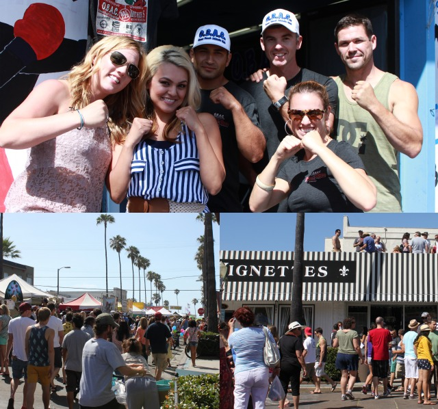 The staff from the Ocean Beach Athletic Club pose for a photo outside of the