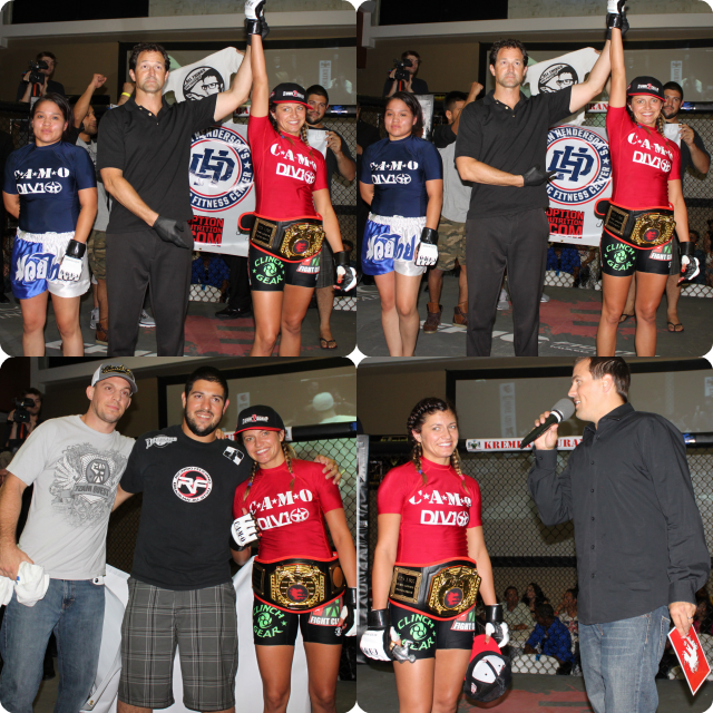 "Bout #6 featured the women, southpaw, 5'7"" Ashley Yoder (1-4) from Team Quest going up against 5'2"" Diana Manzanares"