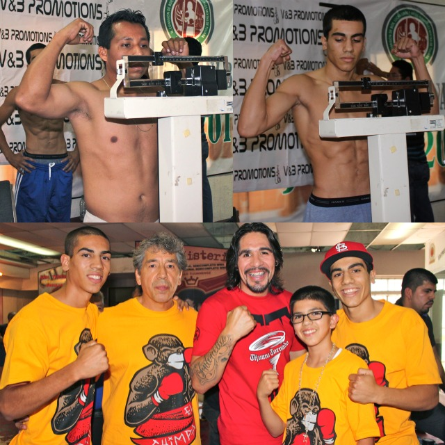 In Bout #7, they have Christian Gonzalez (right and bottom) going up against this gentleman by the name of Escheveria.