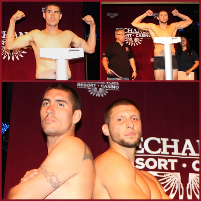In the cruiserweight weight division, it's Miguel Cosio (L)  taking on Jacob Poss.