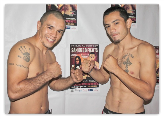 On Friday night at the Four Points By Sheraton Hotel in San Diego, CA Adolfo Landeros (l) will be seeking revenge for an earlier loss. All photos: Jim Wyatt