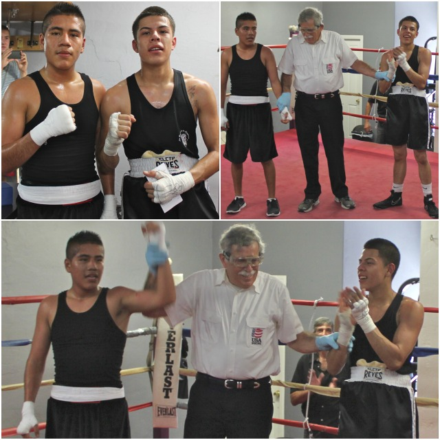 In Bout #2, it was Carlos Renigio (l) of the Boxing Club going up against Jose Olivera (r) of JSK.