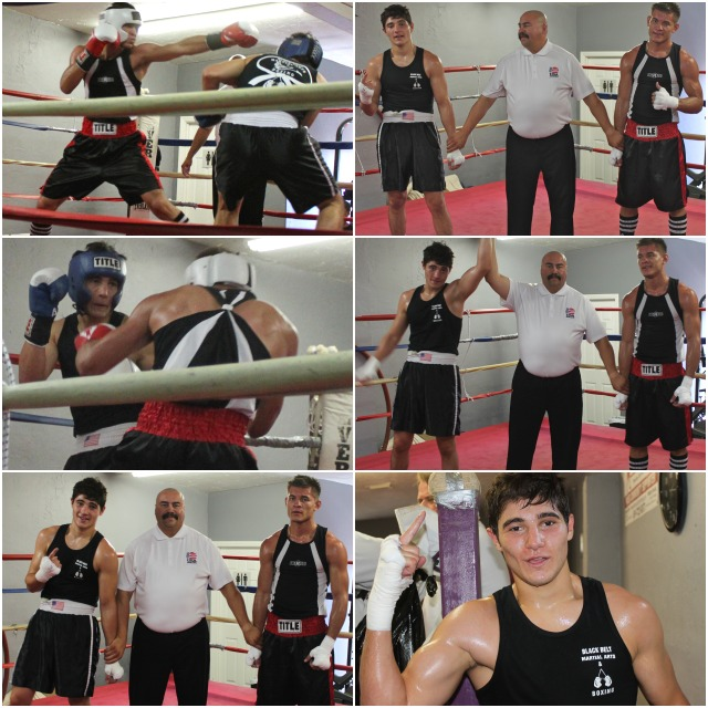 In the final bout, it was Hassan Fakhreddine (bottom photo, right) getting the decision win over Christian Olivas.