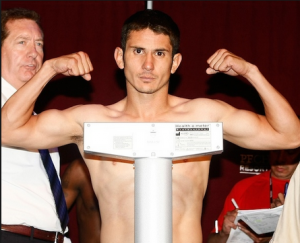Junior welterweight Mauricio Herrera poses for a photo at a recent weigh-in.