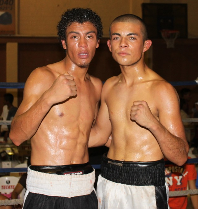 Back on August 14, 2012, Carlos Carlson (l) defeated Mario Lara by unanimous decision in Tecate, B. C., Mexico. Photo: Jim Wyatt