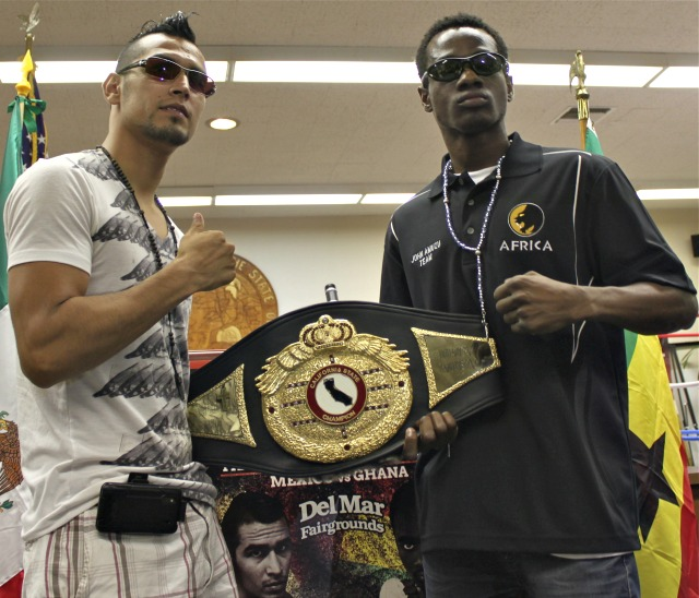 """The headliners on Championship boxing show """"Mexico vs. Kenya"""" to be held at the Bing Crosby Hall"""