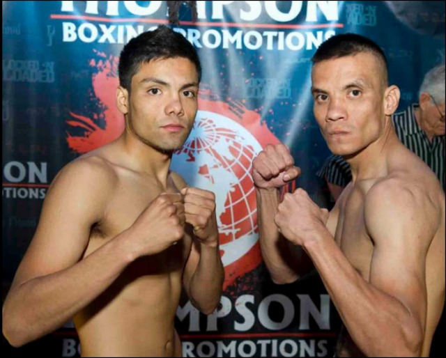 (l to r) Erick Ituarte, 128 lbs. vs. Roberto Ventura, 128 lbs. Photo: Carlos Baeza/Thompson Boxing Promotions
