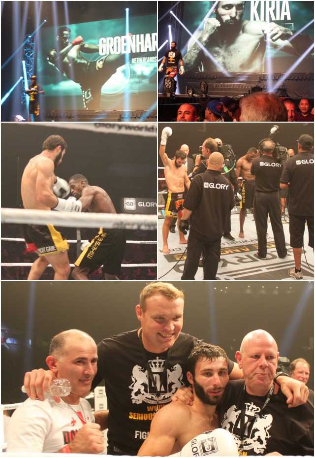 "Bout #14 featured 5'6"" Georgian Davit Kiria (20-8-0, 6 KOs), who currently trains in Holland under the tutelage of 5x World heavyweight Champion Semmy Schilt and Schilt's own coach Dave Jonkers. Kiria took on the 6'1"" Murthel ""Murry"" Groenhart"
