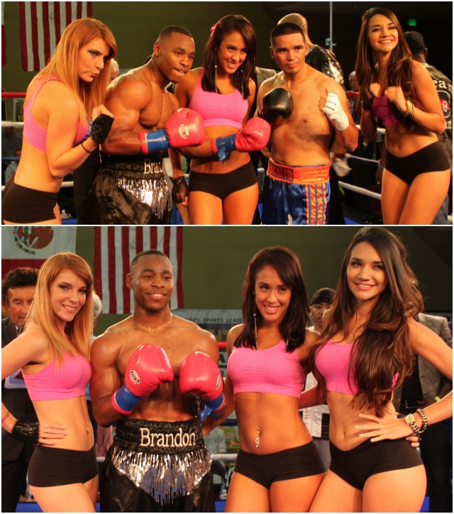 The Main Event was all about Brandon Adams (black trunks) who thrashed his opponent Francisco Rios Gil (blue trunks) from pillar to post.