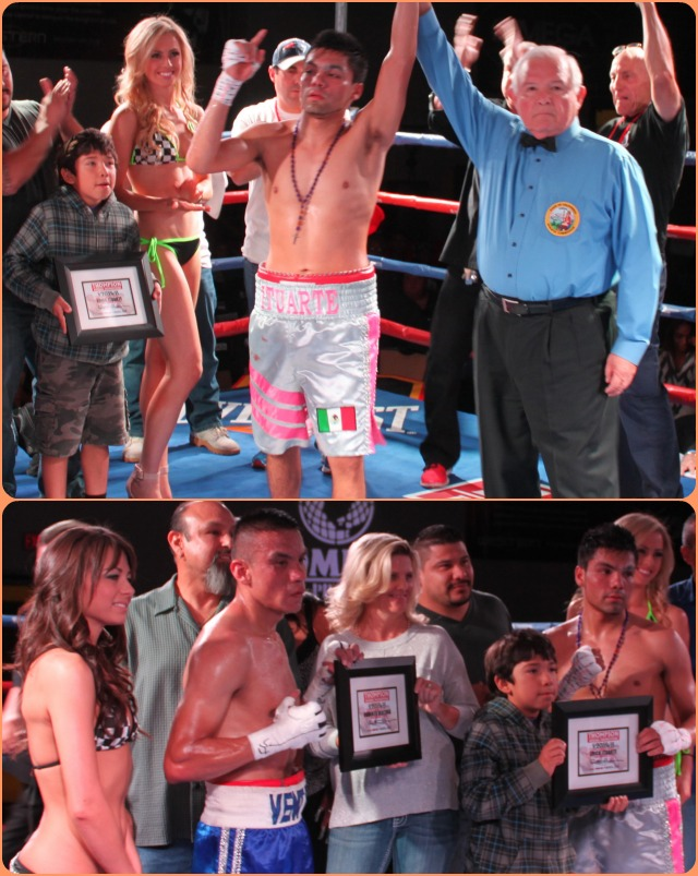 In the end it was Erick Ituarte having his arm raised by referee Lou Moret and he defeated Roberto Ventura.