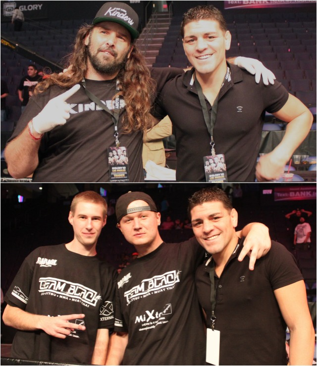 For some reason everyone in the Citizen's Bank Arena wanted a photo with this gentleman by the name of Nick Diaz.