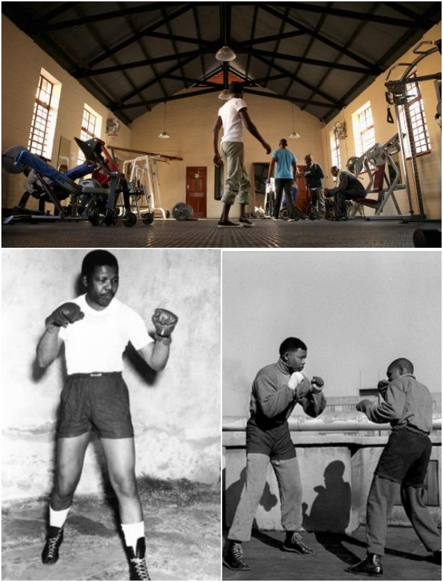 "(top photo) A handful of men work out at the Soweto YMCA, also known as the Donaldson Orlando Community Centre, in Soweto Township July 4, 2013 in Johannesburg, South Africa. The former South African President would often train here five nights a week during the early 1950s. ""The walls ... are drenched with the sweet memories that will delight me for years,"" he once wrote about his neighborhood gym. Photo: Chip Somodevilla/Getty Images (below) Photos show the young pugilist in his prime."