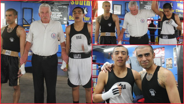 In Bout #12, they had Rene Flores of the Coachella Boxing Club going up against Ahmad Noori of the Black Tiger Gym on Miramar Road, San Diego, CA in the 132 pound, Novice division, semifinals.