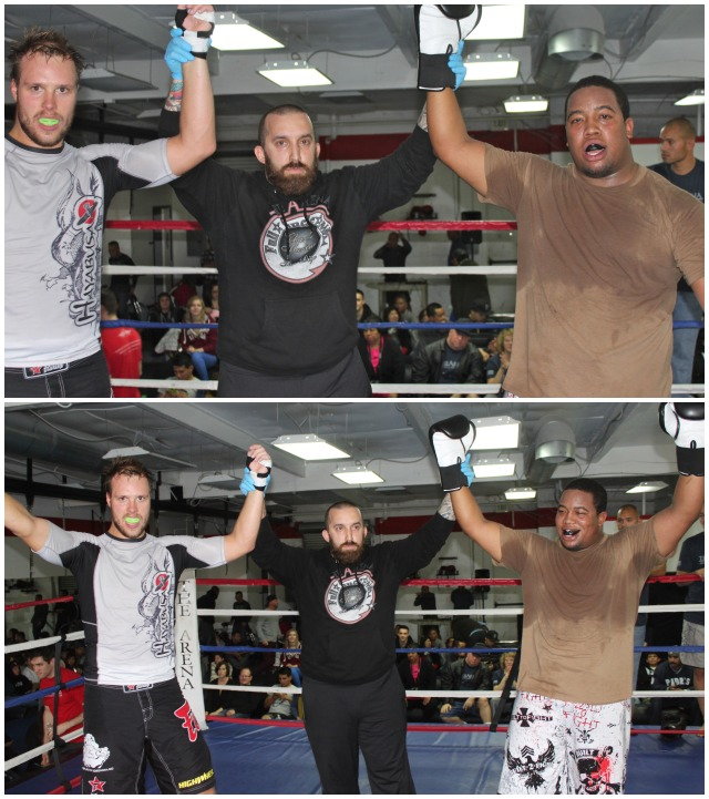 "Bout #9 featured two heavyweights, Erland ""Techno Viking"" Ese and Mike ""Psycho"" Ward"