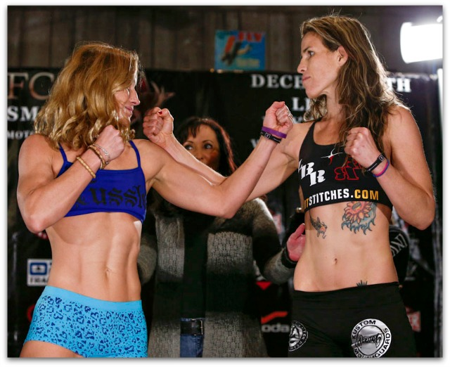 The Main Event of the evening features Barb Honchak (l) going up against Leslie Smith.