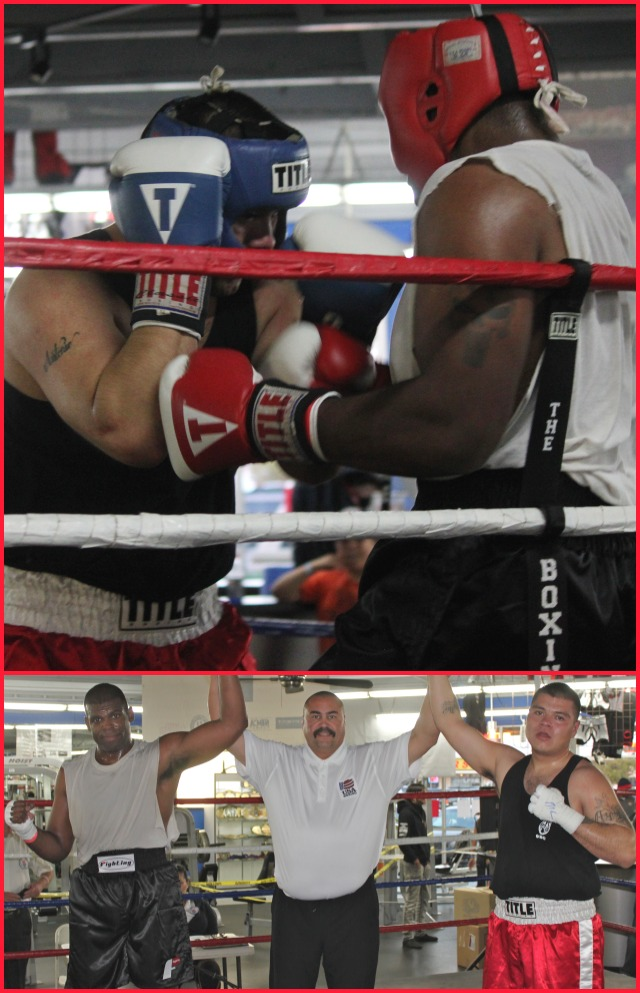 Bout #15 featured the big boys, 201 pounds plus, Chuck Landy of the World Boxing Gym going up against Louis Mayorga of Old School Boxing.