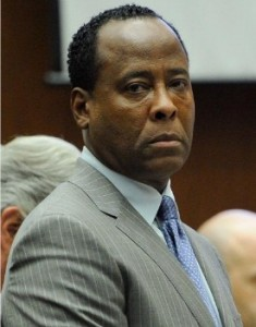 Dr. Conrad Murray is shown just before being remanded into custody after the jury returned with a guilty verdict in his involuntary manslaughter trial on November 7, 2011 in Los Angeles. Photo: Pool/Getty Images