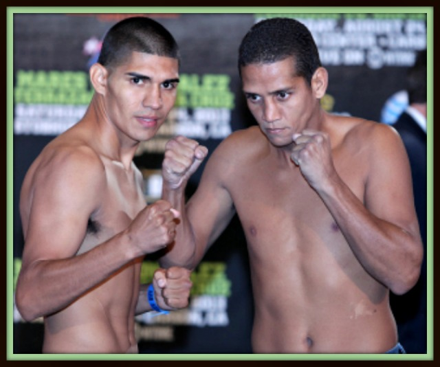 Antonio Orozco with huertaThe scheduled 10-rounder at the Fantasy Springs Casino in Indio, CA headlined a Golden Boy Live! telecast on Fox Sports 1.