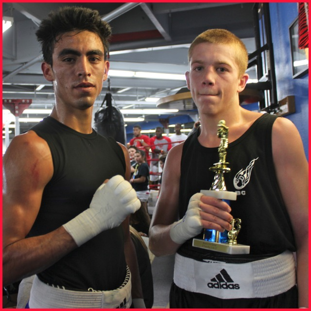 Bout #11, another of the highly anticipated match-ups, featured Tyler Herberger (121.2 Lbs) of Old School Boxing, San Diego, CA facing Jose Jurado (121.6 Lbs) from the House of Boxing, Paradise Hills, S. D., CA in the Elite 123 pound division.