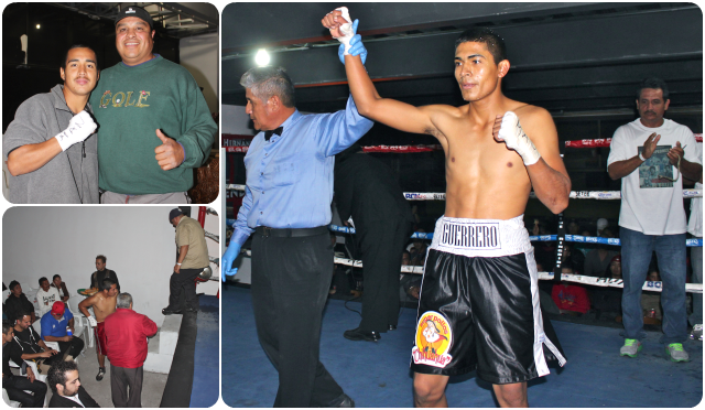 In Bout #2, it was Carlos Valenzuela getting the TKO victory over Jesus Marquez.