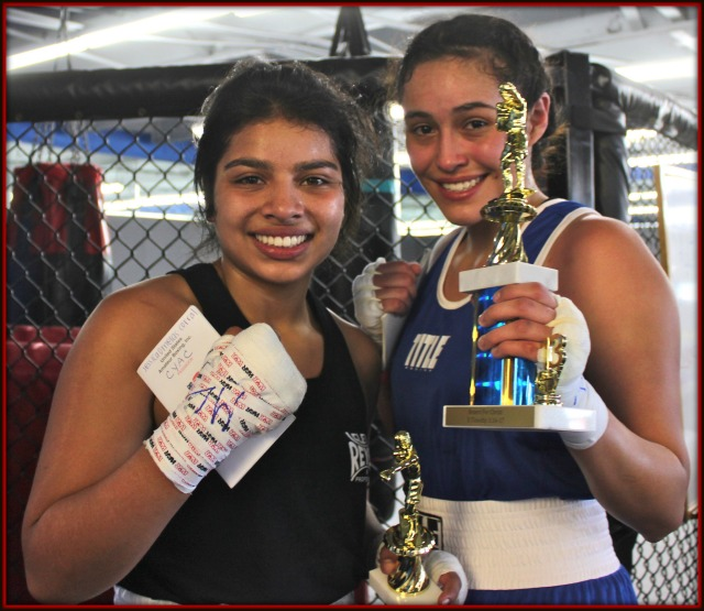 For Bout #4, we were back to the ladies, featuring Jessica Corral (129.4 lbs.) of the National City CYAC going up against Renata Ramirez (129.6 lbs.) of the Duarte Youth Boxing Club in the 17 and up, 132 pound Novice division.