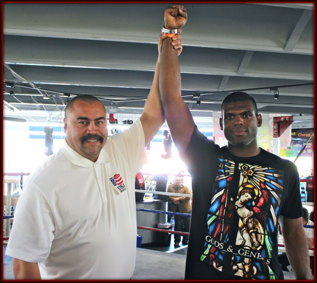 In Bout #10, the boxer scheduled to face Chuck Landy, Saturday's winner in the 201 pound plus, heavyweight division, ended up being a no show which made his final match a walkover.