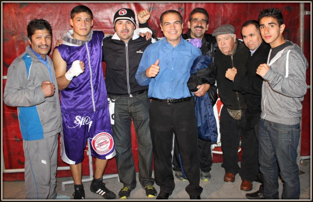 "The Victor Fonseca fan club poses for a photo after ""Sina"" lates victory."