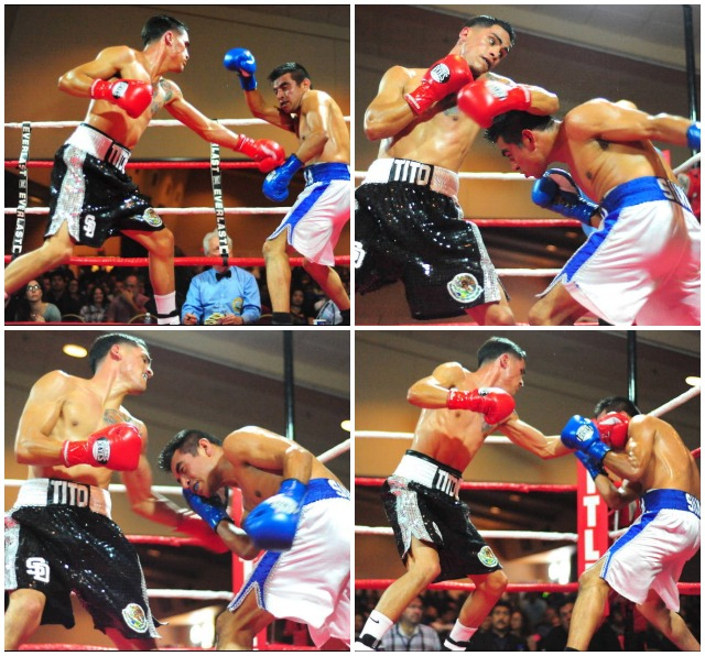 "From the looks of these photos of Bout #6, it appears Jorge ""Tito"" Ruiz (l) is giving Luis Silva a boxing lesson. Photos: Paul Gallegos"