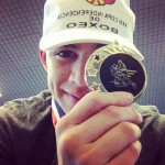 Genaro Gamez shows off his Gold Medal from