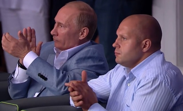 Attending the event, were Russia's President Putin along with Fedor Vladimirovich Emelianenko who many analysts, fighters, and experts consider to be the greatest mixed martial artist of all time.